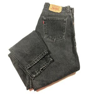 Vintage Levis 550 Women 11 Black Relaxed Tapered